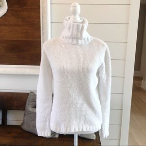 White Christopher Banks chunky turtleneck sweater